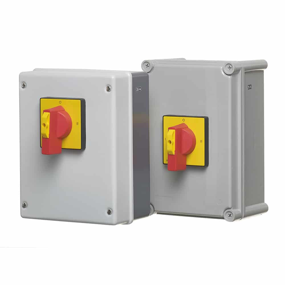 Manual Changeover Switch 25A 4 Pole Plastic Enclosure