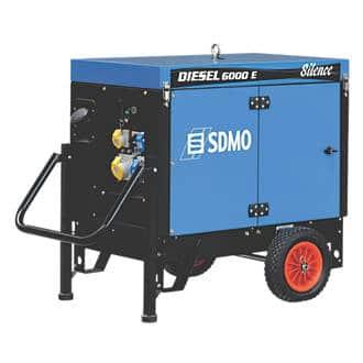 SDMO 6000A 5200W PORTABLE GENERATOR 110 / 230V