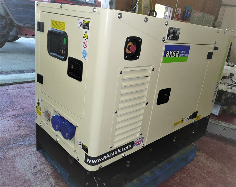 Aksa Single Phase 32A (7.6kVA)  Diesel Generator