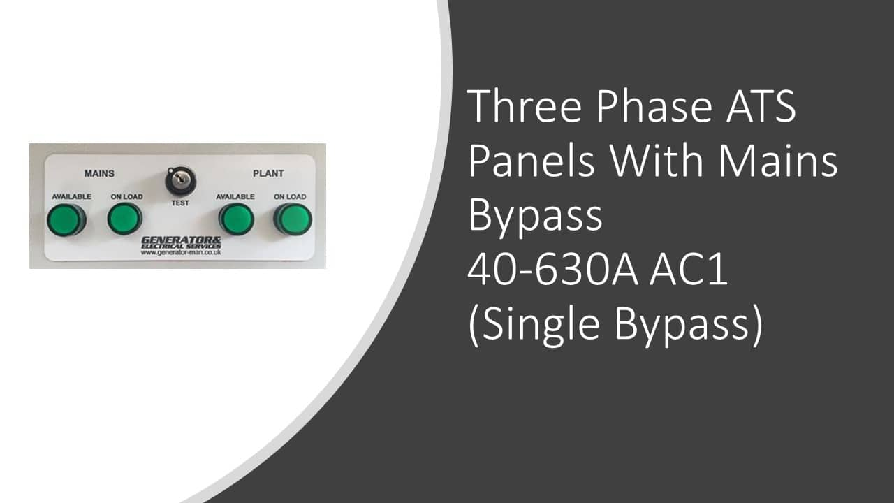 ATS Panels (Three Phase) With Bypass