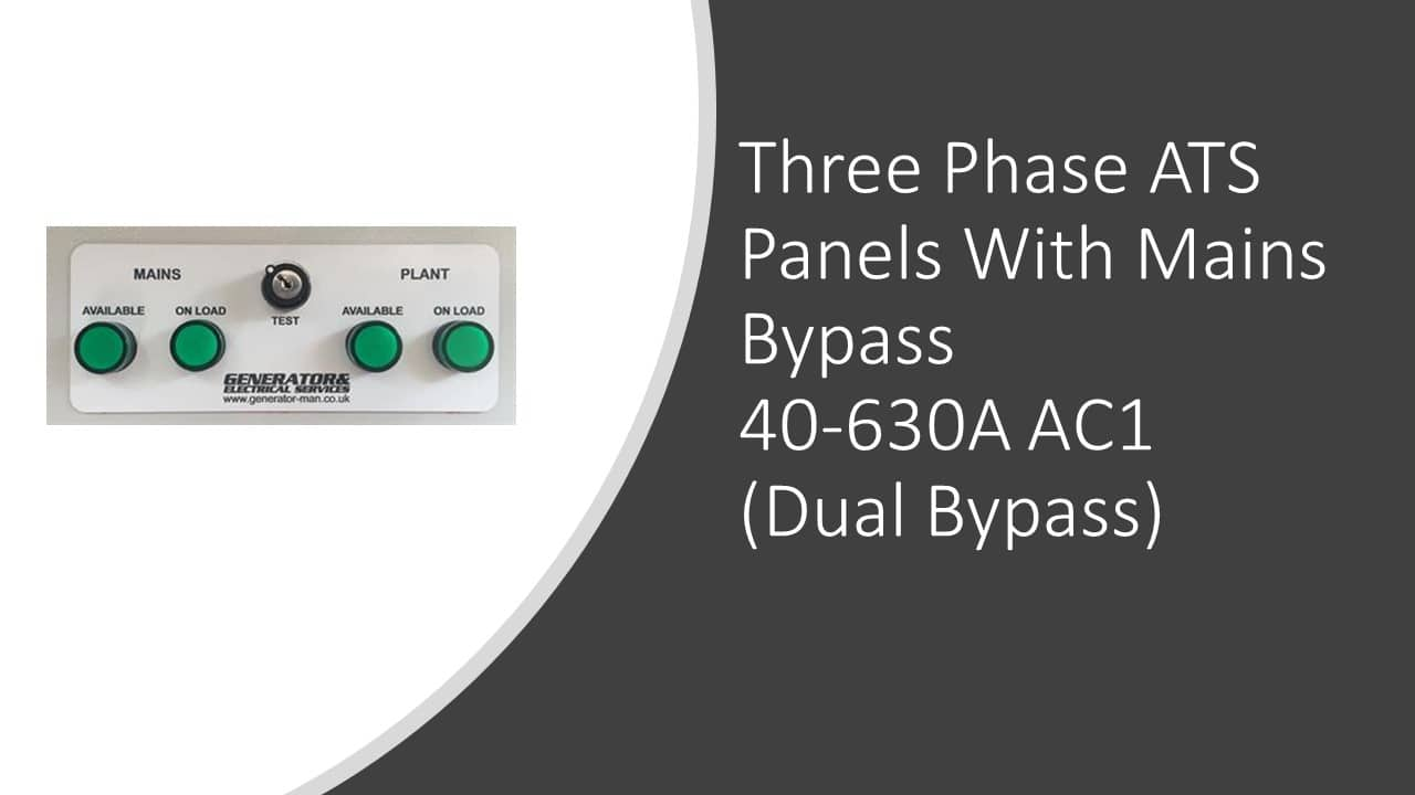 ATS Panels (Three Phase) With Dual Bypass
