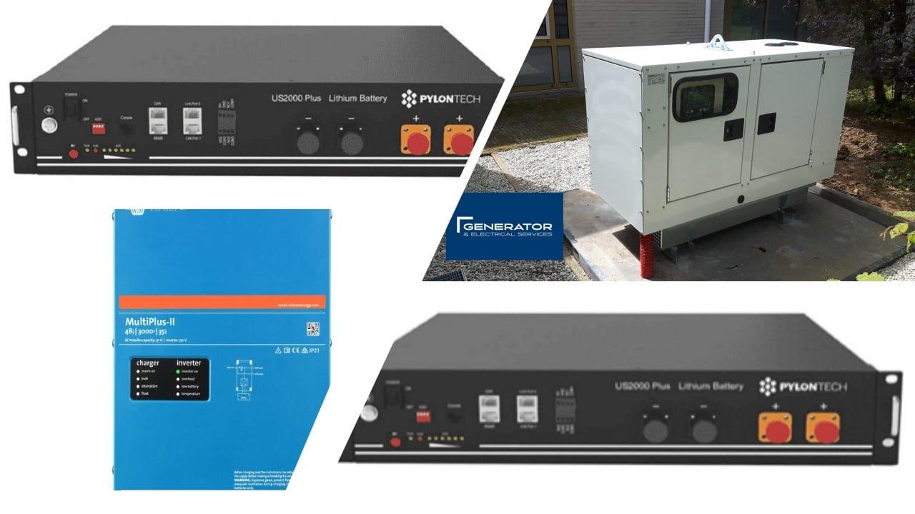 3kVA 4.8kWh Battery System with 8kVA Generator (No Solar)